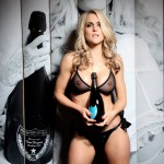 Kayleigh P Stripping With A Bottle Of Champs - 4