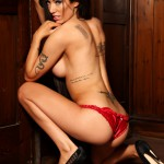 Lauren Rosario Stripping From Her Red Lingerie - 23