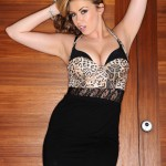 Leah Francis Animal Print Bodysuit With A Tight Skirt - 3