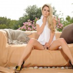 Rachel Mcdonald Gets Naked Outside On The Couch - 1