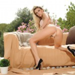 Rachel Mcdonald Gets Naked Outside On The Couch - 6
