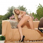 Rachel Mcdonald Gets Naked Outside On The Couch - 8