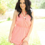 Becky Hey – Cute Polka Dot Dress By The Swing - 4