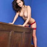 Adele Taylor – Red Lingerie - 12