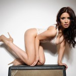Kelly Andrews Strips From Her White Bodysuit - 7