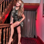 Lucy Anne Brooks – Black Lingerie And Golden Stockings On The Red Carpet - 2