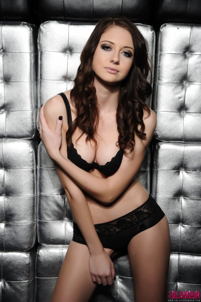 Natalie Taylor Black Bra And Panties