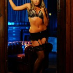 Holly H – Black Lingerie With Stocking - 3