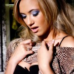 Sophia Knight – Black Bra - 5