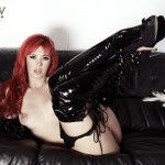 Sophia Knight – Red Hair Black Latex - 18