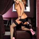 Syren Sexton – Pink Lingerie And Stockings - 17