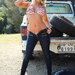Vanessa Walker – Floral Bikini And Denim Jeans - 6