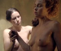 Anna Hutchinson Bathes In The Plot Of Spartacus