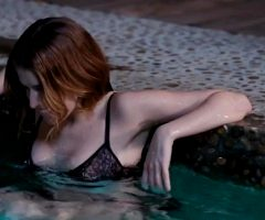 Anna Kendrick Chilling In The Pool