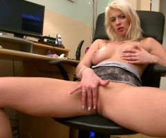 Blonde Plays With Her Pussy