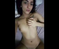 cute Indian with tattoo strip and bate