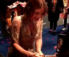 Emma Watson At The Shanghai Beauty And The Beast Premiere