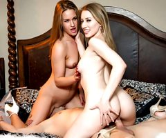 Hardcore THREESOME with two hot Teens, April Brookes