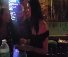 In A Nightclub Showed Boobs. Kissing With A Woman. Binge