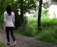 Lady Fucked In The Park