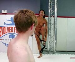 Sam Solo gets trapped in Daisy Ducati's powerful leg scissor
