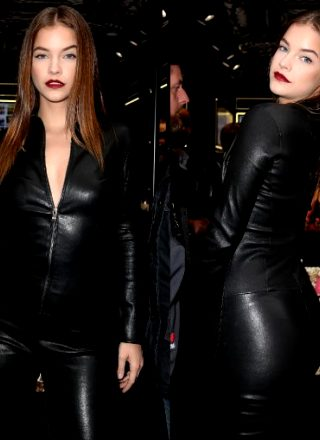 Barbara Palvin's Fine Ass In Leather.