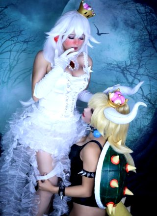 Bowsette Taking Off Boosette/Booettes Pantys By Gunaretta Cosplay And Lysande
