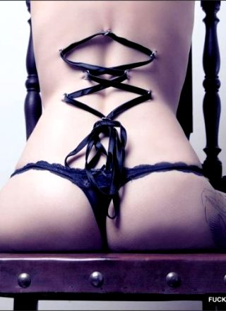 Corseting And A Glimpse Of A Tat
