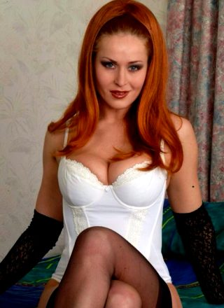 Fabulous Redhead Milf Shows Her Assets Gorgeous Naturals