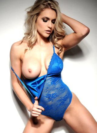 Kayleigh P – Blue Body Suit