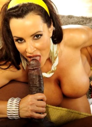 Lisa Ann Milf Blows Big Black Cock