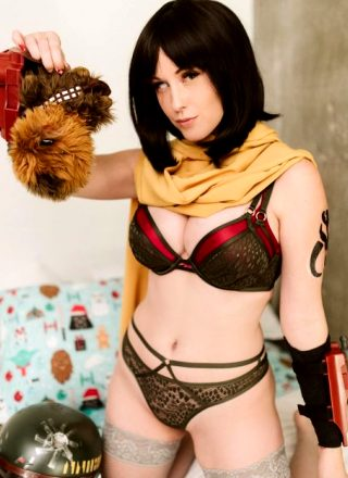 Meg Turney – Lingerie Boba Fett Gender Swap