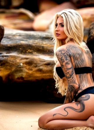 Tattooed Katia