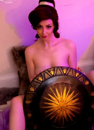 Wonder How Meg Got This Shield? – Megara Erocosplay By Lunaraecosplay
