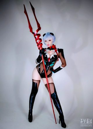 YuzuPyon As Rei Ayanami – Self Made Lance Of Longinus