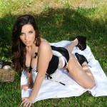 Aime Middleton – Black And White Lingerie - 4