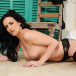 Becky Hey – Black Lingerie With Stockings - 18