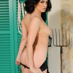 Becky Hey – Black Lingerie With Stockings - 23