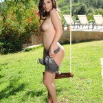Aime Middleton – Aime Stripping From Her Tight Lingerie By The Swing - 11
