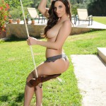 Aime Middleton – Aime Stripping From Her Tight Lingerie By The Swing - 15
