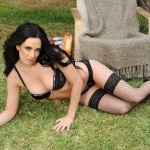 Becky Hey – Black Lingerie And Stockings Stripping Nude - 5