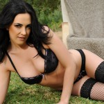 Becky Hey – Black Lingerie And Stockings Stripping Nude - 6