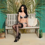 Becky Hey – Strips From Her Lingerie And Plays With Her Stockings - 0
