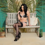 Becky Hey – Strips From Her Lingerie And Plays With Her Stockings - 1