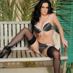 Becky Hey – Strips From Her Lingerie And Plays With Her Stockings - 6