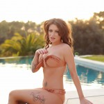 Becky Holt – Slips Out Of Her Bikini And Gets Naked By The Pool - 0