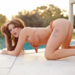 Becky Holt – Slips Out Of Her Bikini And Gets Naked By The Pool - 2