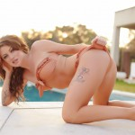 Becky Holt – Slips Out Of Her Bikini And Gets Naked By The Pool - 3