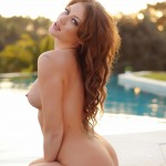 Becky Holt – Slips Out Of Her Bikini And Gets Naked By The Pool - 11