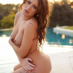 Becky Holt – Slips Out Of Her Bikini And Gets Naked By The Pool - 14